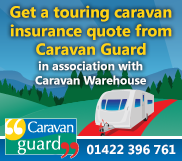 Click this banner for a Touring Caravan insurance quote from Caravan Guard in association with Caravan Warehouse